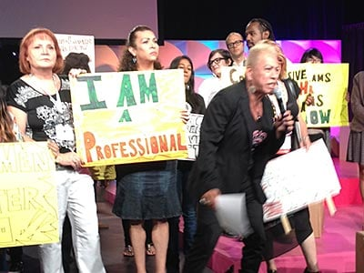 Trans Lives Matter Activists Storm the Stage at USCA