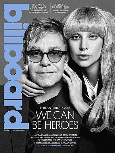 Elton John and Lady Gaga Share Cover of Billboard's First Ever Philanthropy Issue