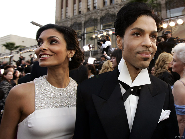 Prince and his now ex-wife Manuela Testolini