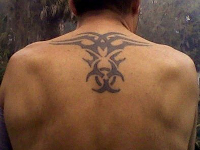Biohazard Symbol Tattoo