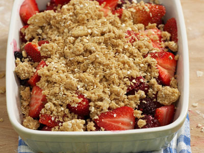 Bite by Bite: Strawberry Cobbler