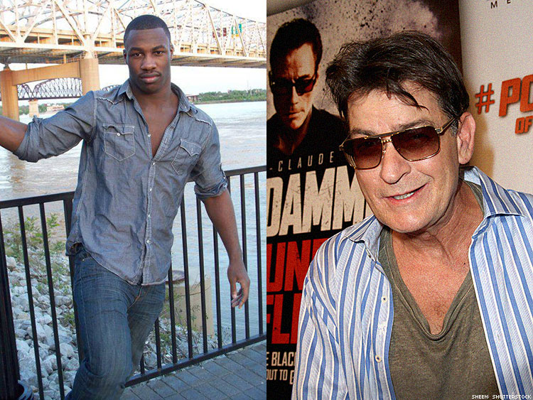 Michael Johnson and Charlie Sheen