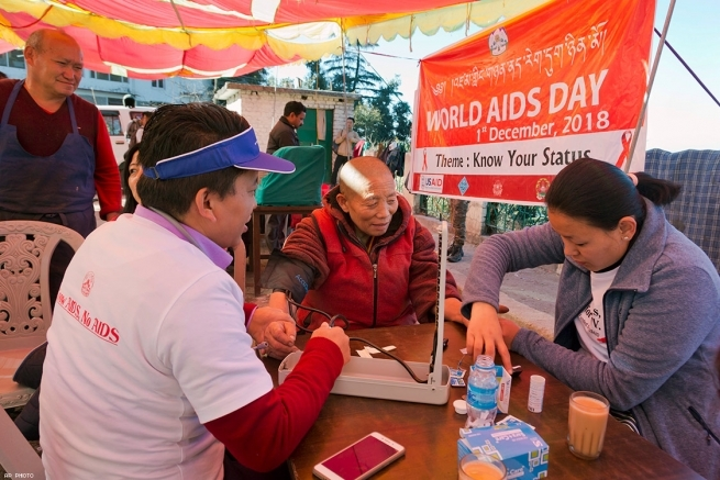 World AIDS Day in Dharmsala, India
